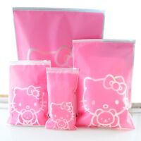 5Pcs Hello Kitty Travel Storage Bags Organizer For Clothes Shoes Underwear Socks