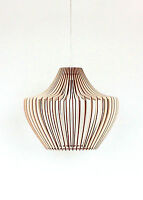 Modern Large Ceiling Mount Wood Lampshade Pendant Light Shade