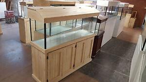 Aquarium 5ft x14'x 20' Glass Fish Tank Plus Cabinet Hood and Base Brand New