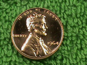 UNITED STATES   1 Cent   1964   PROOF  :)