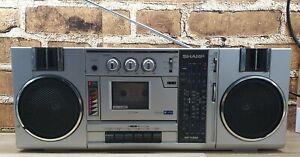 Vintage Sharp GF-7300E Ghetto Blaster Boombox Radio Cassette FREE P&P