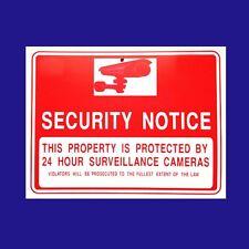"1 Sign  Security Notice Camera 24 Hours  Surveillance  Flexible  Plastic 9""x12"