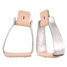 "Tough-1 Aluminum Angled Roper Stirrups with Angled Design and 3"" Neck"