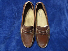 Rockport Oaklawn Park Penny Driver Dark Brown Leather shoes mens Size 10 M New