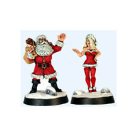Father Christmas & lovely assistant (28mm metal fig.) Copplestone Castings XMAS2