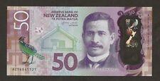 2016 New Zealand $50 Dollar G. Wheeler Signature Uncirculated PNew