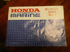 Honda BF115 / 130 hp 4 strokeOutboard Owners Manual