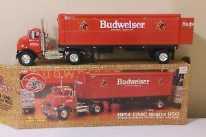 Ertl Collectibles 1954 GMC Series 950 Die Cast Budwiser Truck/Trailer coin bank