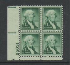 USA - 1954, 1c Green, Liberty, Washington Block of 4 - M/m - SG 1028