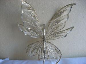 Schmetterling Clip gold-silber ca,55cm edel & auffallend
