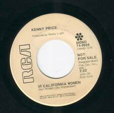 Kenny Price - 30 California Women - Love's Not Hard - RCA Records Promotion Copy