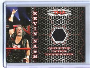 TNA Kevin Nash 2008 Impact Exclusive Rainbow Event Used Shirt Relic Card SN 9/40