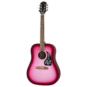EPIPHONE Starling Hot Pink Pearl ❘ Westerngitarre ❘ Square Shoulder Dreadnought