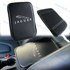 Embroidery Carbon Car Center Console Armrest Cushion Mat Pad Cover for JAGUAR