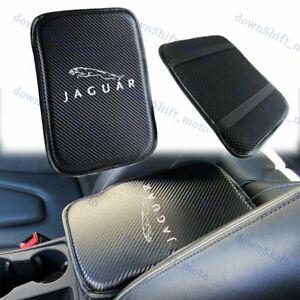 Embroidery Carbon Car Center Console Armrest Cushion Mat Pad Cover for JAGUAR