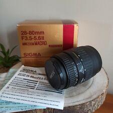 Sigma 28-80mm F3.5-5.6 II Zoom Macro Objektiv Aspherical  in OVP   für Canon EOS