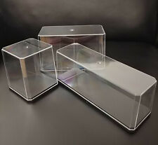 Mini Display Case with Base Clear Show Box for collectibles action figures