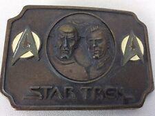 Vintage Star Trek Original 1979 Belt Buckle Spock Kirk Paramount Pictures