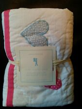 NEW 1 Pottery Barn Kids Heart Quilted Standard Sham Floral Sold Out Last One