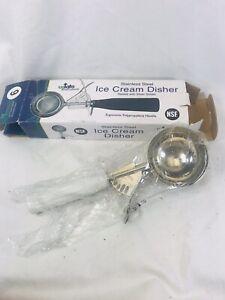 Update International DP 6 White Plastic Handle Disher Ice Cream Scoop