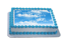 Novelty Clouds / Sky Themed A4 Edible Icing Cake Topper birthday