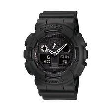 Casio G-Shock GA100-1A1 Resin Quartz Watch Black with Black Dial