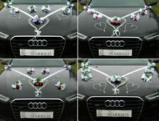 LIEBESHERZEN Autoschmuck Braut Paar Rose Deko Dekoration Hochzeit Autodeko Ratan