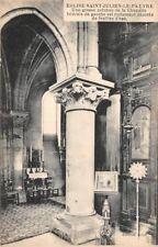 EGLISE ST JULIEN LE PAUVRE - colonne richement décorée de feuille d'eau