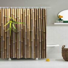 180x180cm Shower Curtain Bath Curtain for Bathroom Digital Printing Bamboo