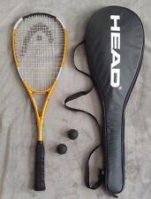 Head Squash Racquet Liquid Metal 140 with Racquet Cover EUC!!