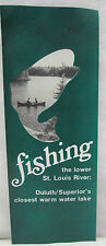 Vtg Fishing Brochure Lower St. Louis River Duluth Lake Superior Boat Launch Map