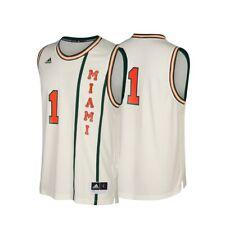 Miami Hurricanes NCAA Adidas #1 Hardwood Classics Tan Basketball Jersey