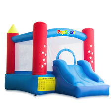 Inflatable House Castle Jumper Bouncer with Slide Blower For Kids Jump w/Bag