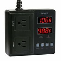1650W Digital Temperature Controller Outlet Thermostat with 2 temperature mode