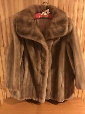 1920 Vintage Faux Fur Coat, caramel, button down (3). Sears Best, Sz 16.