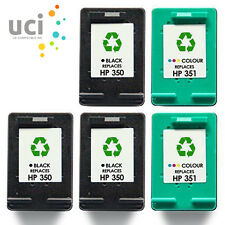5 NonOEM Ink Cartridge For HP 350XL & 351XL Photosmart C5280 C4580 C5200 C4280