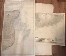 25 x V. Rare Large Scale Coastal Charts, Southern England France English Channel
