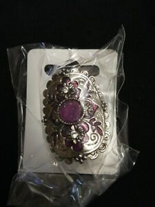 Gorgeous Enamelled Metal Purple Adjustable Ring