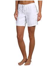 "O'NEILL WOMEN'S ATLANTIC BOARDSHORTS 7"" SWIM BRIEFS BOTTOMS WHITE SZ 5 NEW! $34"