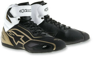 Alpinestars Women's Size 5 Faster 2 Black/White/Gold Motorcycle Shoes