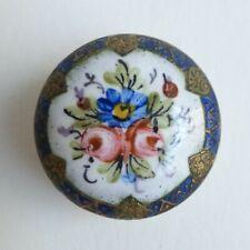 Bouton ancien - Émail peint - 22 mm - XIXe - Enamel Button