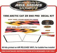 1998 ARCTIC CAT ZR 440 SNO PRO DECAL KIT  REPRODUCTIONS GRAPHICS  sno-pro