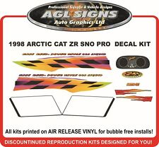 1998 ARCTIC CAT ZR 440 SNO PRO DECAL KIT  REPRODUCTIONS GRAPHICS  sno-pro