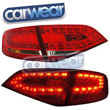 AUDI A4 B8 SEDAN 2008-2012 OEM STYLE CLEAR RED LED TAIL LIGHTS & REVERSE  LIGHTS