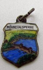 Mohnetalsperre  Germany Silver Enamel  Travel Shield Charm