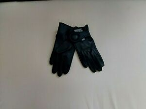 """Gloves""""ASOS"""" 100 % Leather Black Colour Size: S / M New Without Tags"""