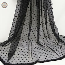 Hollow Floral Lace Fabric Tulle Mesh Wedding Bridal Veil Dress Decor Craft Yard
