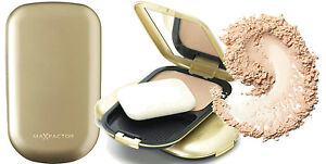 MAX FACTOR FACEFINITY GOLD COMPACT FOUNDATION SAND NATURAL TOFFEE IVORY *CHOOSE*