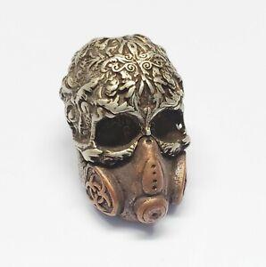 ID Keychain Lanyard with skull beads 4