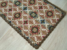 German Vintage embroidered decorative Table runner - floral motifs